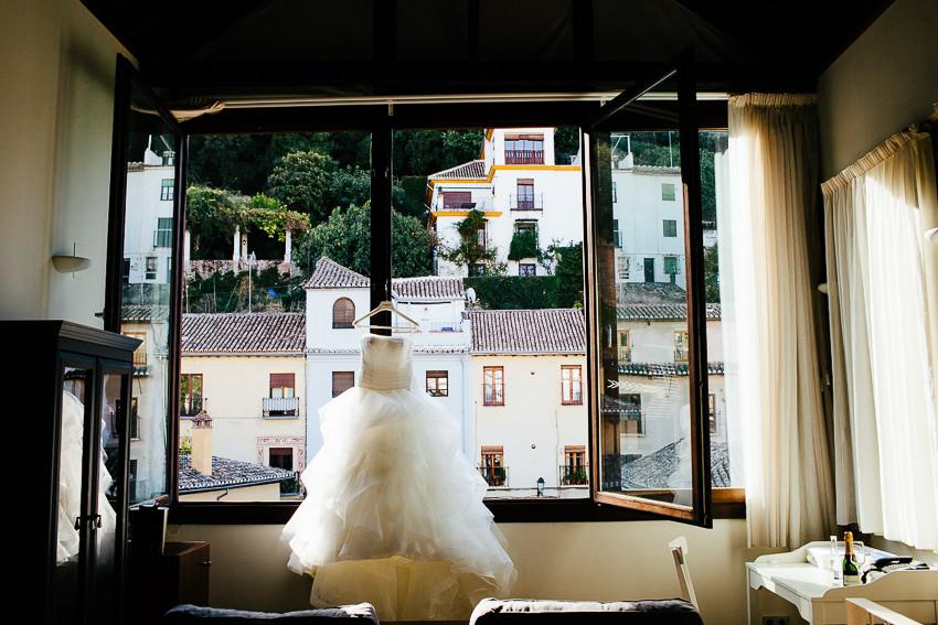 vestido de novia hotel shine granada