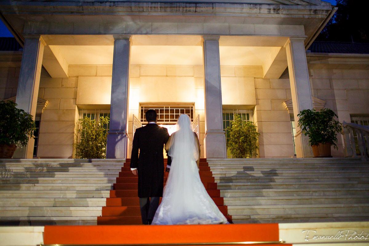 entrada maestuosa de esta boda palacio palacio monte miramar
