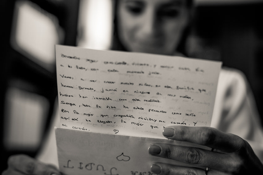 carta emotiva para la novia