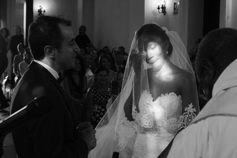 momento emotivo de la novia