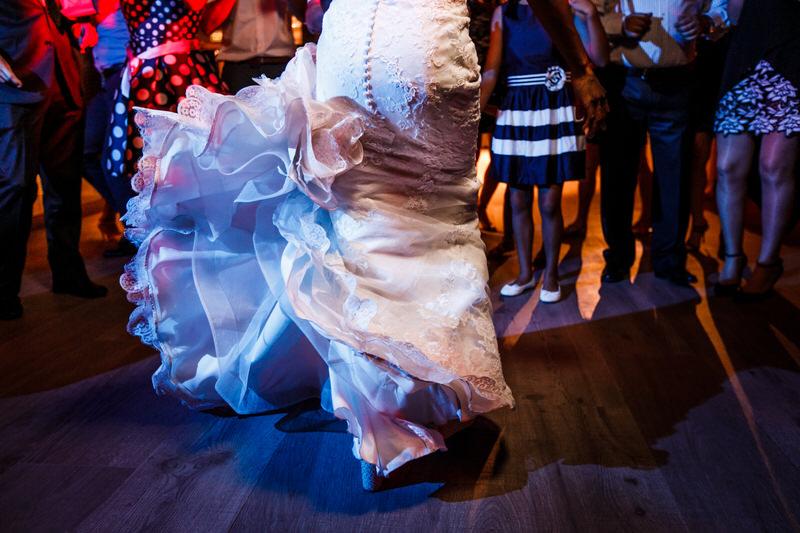 detalle traje de novia pronovia
