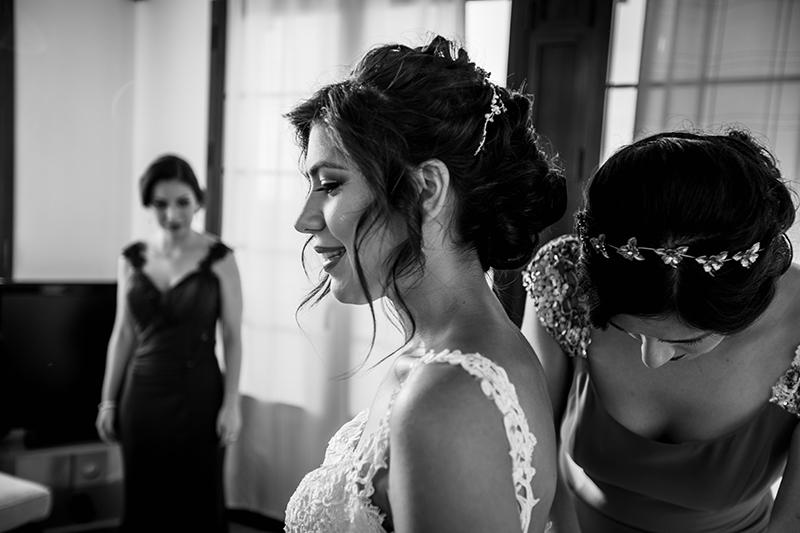 preparativos en la suite de finca eslava para su boda