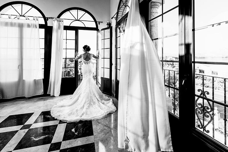 preparativos de la novia en al finca eslava