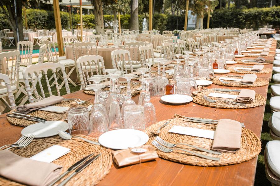 Boda villa fernanda Málaga decoración mesa